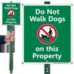 Do Not Walk Dogs On Property LawnBoss Sign