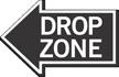 Drop Zone, Left Die-Cut Directional Sign