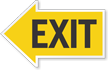 Exit Left Die-Cut Directional Sign