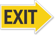 Exit Right Die-Cut Directional Sign