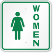 Women With Female Symbol Restroom Sign