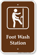 Foot Wash Station Sign with Symbol