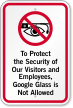 Google Glass Is Not Allowed Sign