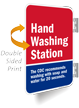 Hand Washing Station Two Sided Spot-a-Signs