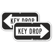 Key Drop Right Arrow Sign