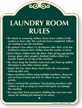 Laundry Room Rules Signature Sign