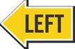 Left Die-Cut Directional Sign