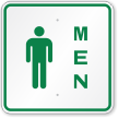 Men With Male Symbol Restroom Sign