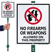 No Firearms Allowed LawnBoss® Sign & Stake Kit