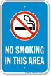 No Smoking In This Area Clean Air Sign