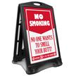 No Smoking Within 30 Feet Sidewalk Sign
