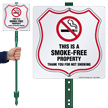 This Is A Smoke Free Property No Smoking LawnBoss Sign