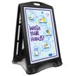 Wash Your Hands BigBoss Portable Sidewalk Sign