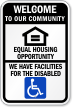 Welcome To Our Housing Community Sign