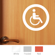 Accessible Symbol Glass Door Label