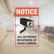Activities Monitored By Video Camera Glass Decal