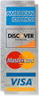 American Express, Discover Network, MasterCard, Visa Logo Decal