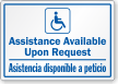 Bilingual Assistance Available Upon Request Label