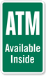 ATM Available Inside Window Decal