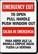 Bilingual Emergency Exit Label