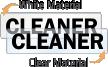 Cleaner Door Label