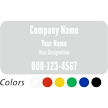 Custom Company Name and Designation, Single-Sided Label