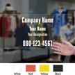 Custom Company Name Designation Die Cut Label