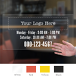 Customizable Logo and Number, Single-Sided Label