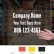 Customizable Company Name Address Die Cut Label
