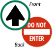 ANSI Do Not Enter Door Decal with Symbol