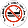Smoke Electronic Cigarette Free Facility Label