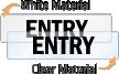 Entry Door Label