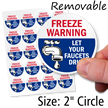 Freeze Warning Let Faucets Drip Static Cling Label