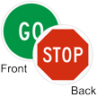 Go / STOP 2-Sided Magnetic Status Labels