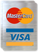 MasterCard Visa Logo Glass Decal