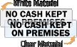 No Cash Kept On Premises Label