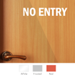 No Entry Vinyl Die Cut Glass Window Decal