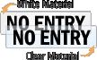 No Entry Door Label
