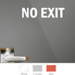 No Exit Vinyl Die Cut Glass Window Decal