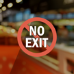 No Exit Symbol Label
