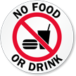 No Food or Drink Glass Door Decal