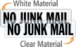 No Junk Mail Door Label