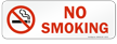 No Smoking Prohibition Label in Red