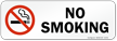 No Smoking Prohibited Label with symbol