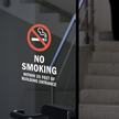 No Smoking Within 25 Feet Window Decal