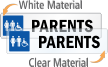 Parents Restroom Label