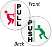 Pull Push With Graphic 2-Sided Label