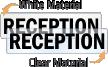 Reception Door Label