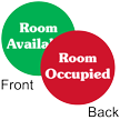 Room Occupied / Available 2-Sided Magnetic Status Labels