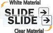 Slide Right Door Label